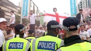 Police near Wembley Stadium ahead of last Sunday's final