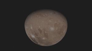Jupiter's ice-encrusted moon Ganymede. Courtesy: NASA