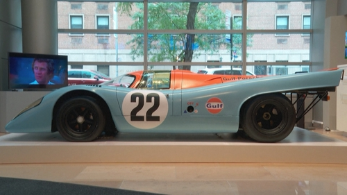 Porsche used by Steve McQueen's in Le Mans.