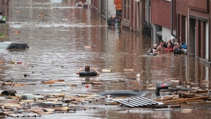 Flooding in Liège, Belgium, earlier this month
