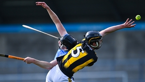 Darragh Corcoran of Kilkenny in action against Donal Burke of Dublin during the May league meeting that the Cats won by five points