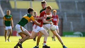 Jack Cahalane tries to battle past Eoghan O'Sullivan and Darragh Lyne