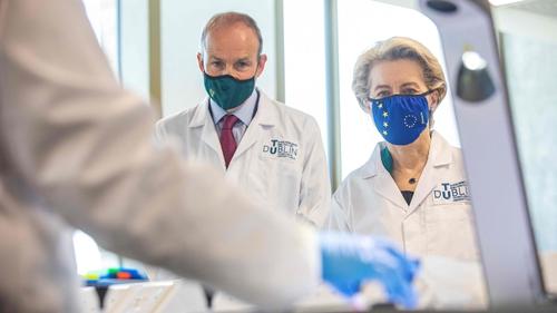Micheál Martin and Ursula von der Leyen pictured at the Technological University at Grangegorman in Dublin