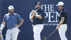 The three-ball of Jon Rahm, Shane Lowry and Louis Oosthuizen shot a combined score of -16 in Friday's second round