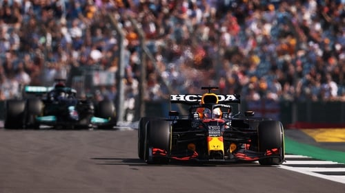 Max Verstappen's car was forced off the track