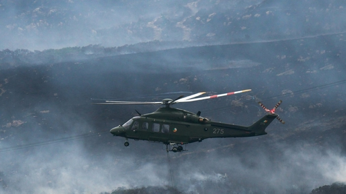 The Irish Air Corps and Dublin Fire Brigade are at the scene (Pic: Dublin Fire Brigade)