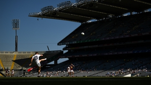 Jimmy Hyland slots over a free for Kildare