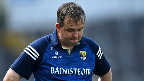 Wexford manager Davy Fitzgerald during the closing stages of the defeat to Clare