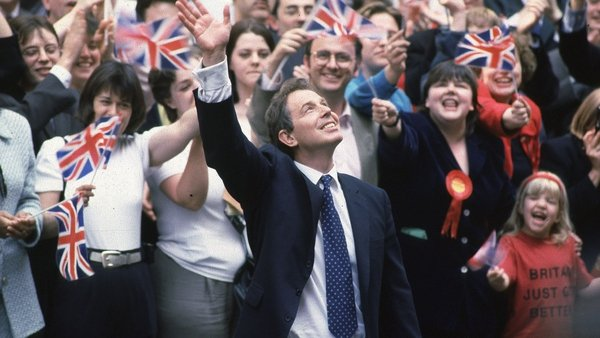 Tony Blair swept to power in Labour's landslide election victory in May 1997