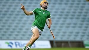 Adam English celebrates after scoring Limerick's goal