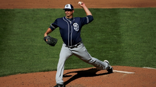 Sammy Solis, pictured during his San Diego Padres days, was one of two Mexican baseball team members to test positive for Covid