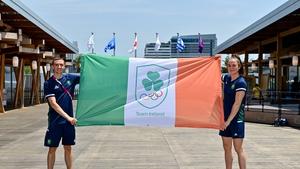 Kellie Harrington and Brendan Irvine will carry the flag for Ireland