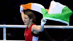 Katie Taylor after her moment of glory at London 2012