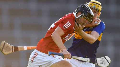 Padraig Power of Cork in action against Tipp's Conor O'Dwyer of Tipperary