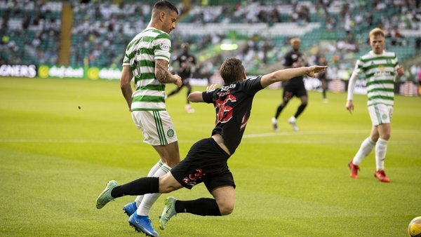 This dive from Midtjylland's Anders Dreyer left Nir Bitton apoplectic and ultimately led to the Celtic player's dismissal