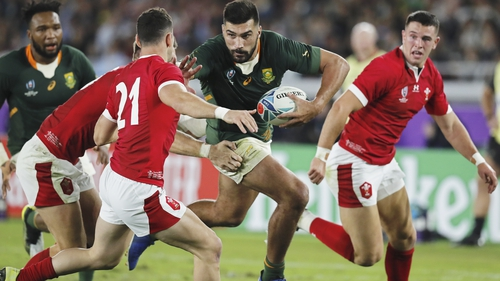 Damian De Allende in action for South Africa 'A'