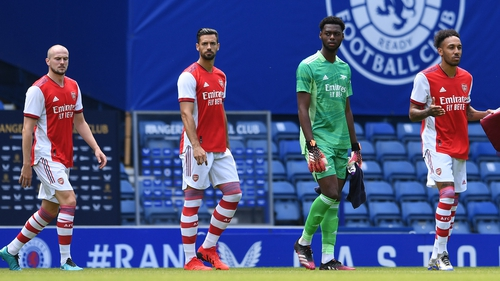 Arsenal played Rangers in a friendly on Saturday