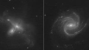 The interacting galaxies named ARP-MADORE2115-273 and ARP-MADORE0002-503. Courtesy: NASA/ESA/STSCI/Julianne Dalcanton/Alyssa Pagan