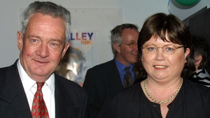 Mary Harney pictured alongside Des O'Malley in 2002