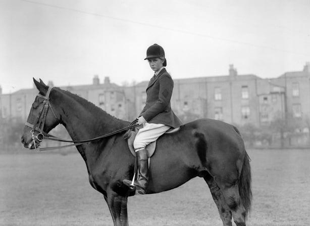 Showjumper Iris Kellett on Rusty, Cashman Collection - 1940s and 1950s