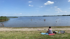 People enjoying the good weather at Lough Ree in Co Westmeath