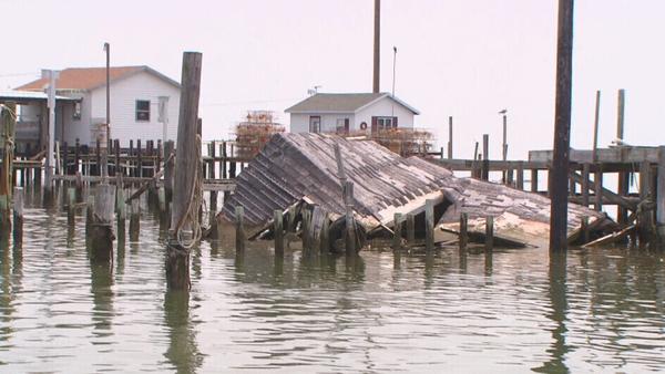 Mayor James 'Ooker' Eskridge said the island is getting smaller