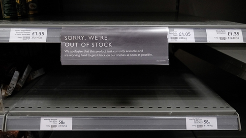 Labour shortages are affecting supplies to supermarkets