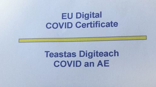 Fully vaccinated people will be given the EU Digital Covid Certificate
