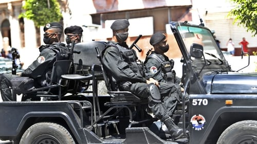 Special forces troops patrol the Cuban capital Havana following the recent protests
