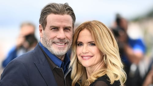 Kelly Preston pictured with her husband John Travolta in 2018