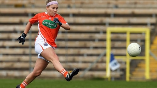 Lauren McConville in action for Armagh