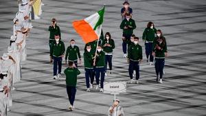 Kellie Harrington and Brendan Irvine were chosen as Ireland's flag bearers for the opening ceremony
