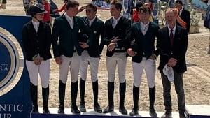 The Irish team on the podium