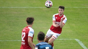 Jayson McClelland heads to score his side's second