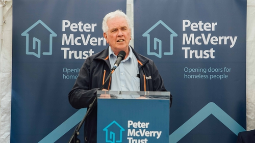 Peter McVerry speaking about the strategic plan today