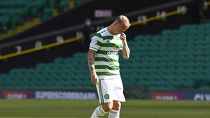 Leigh Griffiths was booed by a section of the Celtic crowd when introduced