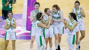 The Irish side celebrate progression to the final