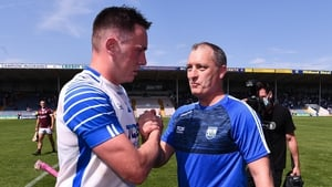 Liam Cahill and Stephen Bennett after the game