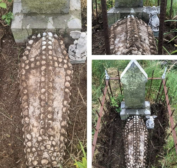 Uncovered graves at Crosshaven