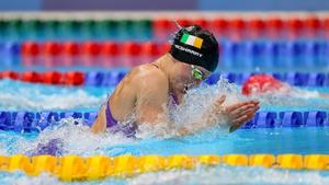 Irish swimmer Mona McSharry.