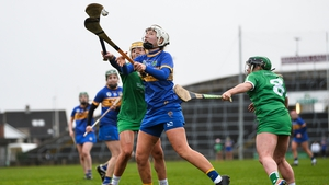 Nicole Walsh, pictured here against Limerick in the league last year against Limerick, was among the Tipperary scorers today against the Treaty County
