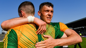 David Clifford, right, and Shane Ryan celebrate the Munster final victory