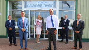 Minister for Enterprise, Trade and Employment Leo Varadkarat Charles River Laboratories in Ballina