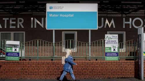 Northern Ireland's chief nursing officer said there are capacity issues at the Mater and Royal Victoria hospitals
