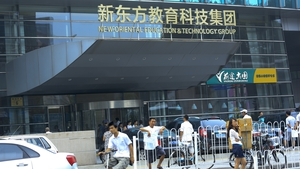 Shares in New Oriental Education & Technology Group plunged 47%, deepening Friday's record 41% fall