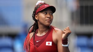 Naomi Osaka in action at the recent Olympic Games