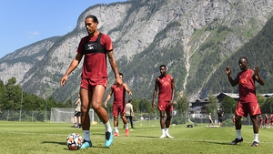 Virgil van Dijk trains at Liverpool's Alpine camp in Austria