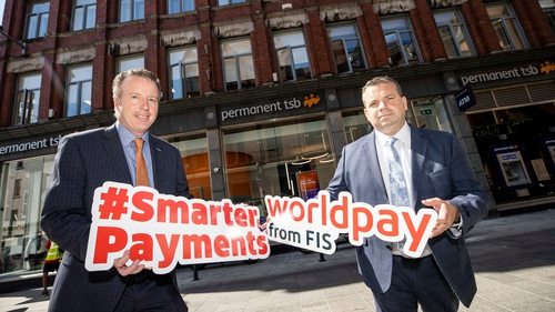 Jeff Harbourne, Head of Savings and Personal Banking at PTSB and Wayne O'Callaghan, Head of Partnerships at Worldpay