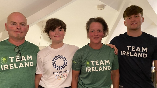The McSharry family were cheering Mona on from their home in Grange, Co Sligo