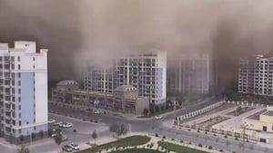 Sandstorms are common in the region each spring but rare in the summer